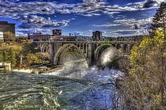 "The Monroe St Bridge (jimgspokane) Tags: themonroestreetbridge bridges thespokaneriver spokanewashingtonstate rivers waterfalls water naturewatcher ""nikonflickraward"""