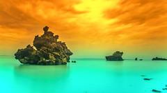 coral rocks of misali island on pemba (bocero1977) Tags: landscape nature reflection bizzar mood outdoor coralrock clouds zanzibar longexposure blue beach sky colors water fineart seascape sea rocks corals light