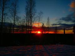 Sunset few days ago (mosesnjie) Tags: sunset finland springinfinland snow oldmine mining topofmine redlight sunshine oneplus oneplus3 oneplus3camera