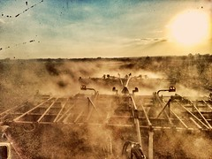 dust... (HSS) (BillsExplorations) Tags: slide sliderssunday dust machinery farming agriculture mothernature spring planting field weather