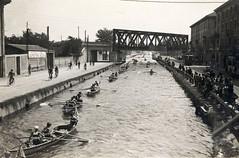 Via Ludovico il Moro_1922 - Foto scattata dal ponte di S.Cristoforo 1922 (Milàn l'era inscì) Tags: urbanfile milanl'erainscì milano milan oldpicture milanosparita vecchiefoto san cristoforo