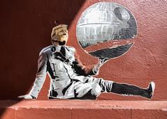 Street Art (michael_hamburg69) Tags: hamburg germany deutschland streetart pasteup wheatpaste trump donaldtrump marshalarts artist künstler starwars todesstern deathstar urbanart