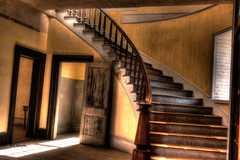 Meade Staircase (JGemplerPhotography) Tags: meade hotel staircase bannack montana