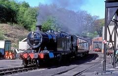 4277  Grosmont  12.05.01 (w. + h. brutzer) Tags: grosmont webru eisenbahn eisenbahnen train trains england dampflok dampfloks steam lokomotive locomotive analog nikon railway