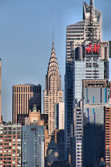 Chrysler Stands (chantsign) Tags: chryslerbuilding deco manhattan nyc telephoto vertical sky blue