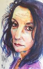 Christina Hermann for JKPP (masil62) Tags: sevilla españa spain portrait masil watercolor acuarela ink retrato caricatura tinta jkpp