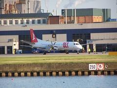 D-AOLA (IndiaEcho Photography) Tags: daola saab 2000 olt london city airport airfield lcy eglc royal docks newham civil aircraft aeroplane airplane aviation