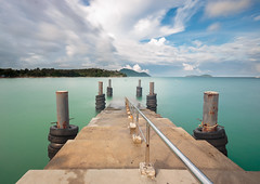 Karon pier (SamppaV) Tags: bigstopper leefilter phuket karon thailand pier longexposure neutraldensity cpl polarizer