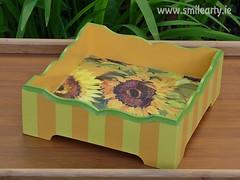 Sunflower Basket (Smile Arty) Tags: gift present vintage handmade decoupage crafts arts diy sunflower basket sun summer