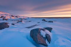 Oqaatsut Sunset (Keith - Glasgow) Tags: arctic greenland winter travel sunset shore snow landscapes coast oqaatsut ice ilulissat qaasuitsupkommune gl