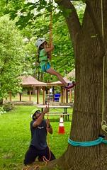 DSC_1279 (Montgomery Parks, MNCPPC) Tags: popupinmontgomeryparks bethesda treeclimbing climbatree tree climbingtrees kids children boys girls arborists elmstreeturbanpark spring may may2017 leaves treetrunks toddler