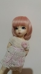 Luna with a crochet dress finished today (Serenityless) Tags: ante littlefee littlefeeante fairyland bjds cute