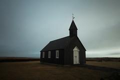 little black church (Andy Kennelly) Tags: little black church iceland winter february longexposure búðir
