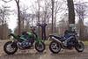 Hooligans of different decades (Rob de Hero) Tags: triumph kawasaki speed triple speedtriple 955i z900 t509 z 900 kawa motorrad bike motorcycle tour road nakedbike brit british greatbritain motorradtour me ontheroad motorräder motorcycletrip motorbike hooligans