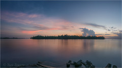 Hotel view (Yuris.photos) Tags: papuanewguinea madang ocean morninglight pinkclouds longexposure nikond810 tropicalisland reflection