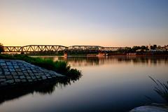 A view at a railway bridge (Eat.myphoto) Tags: wroclaw poland polska bridge bridges railway sunset river odra