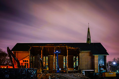Church. (details9) Tags: church toronto demolition night longexposure leslieville
