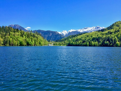 Hechtsee with the Alps in Tyrol, Austria
