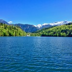 Hechtsee with the Alps in Tyrol, Austria thumbnail