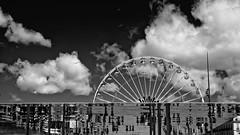 Là-haut (Murphy13006) Tags: marseille extérieur clouds nuages noiretblanc nb sky ciel france europe paca roue birds oiseaux urban urbain sud lights lumière