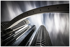 Futuristic (Jaka Pirš Hanžič) Tags: city brisbane queensland qld australia long exposure architecture buildings skyscraper sky clouds cloudy lee little stopper 6 10 16 nd filter urban arch futuristic midday day daylight