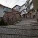 Pelo meio da cidade de Ohrid