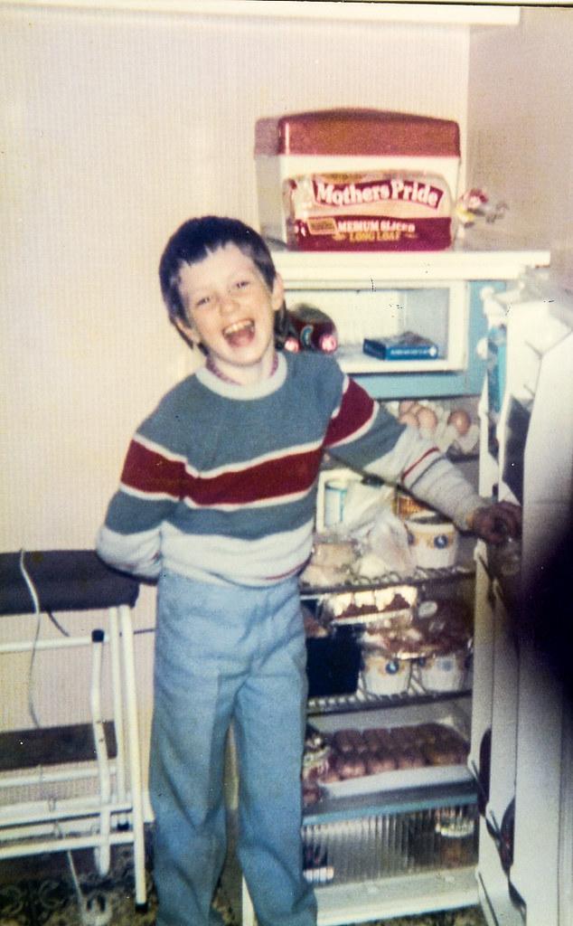 Ryan Finnigan 1986 in kitchen