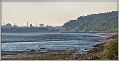 Going Nuclear (david.hayes77) Tags: mostyn wales northwales 2017 6d43 class68 68016 68017 fearless hornet drs directrailservices deeestuary riverdee industry mostynport shoreline signalbox tsbg nuclear flasks panorama goingnuclear coast contrejour flintshire portofmostyn pano penyffordd