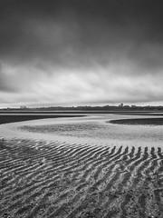 Incoming (rgcxyz35) Tags: beach cramond pattern sand landscape cramondisland tide edinburgh water clouds texture blackwhitephotography bw coast scotland eastcoast