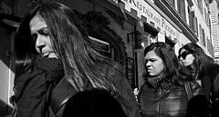Tough on the streets. (Baz 120) Tags: candid candidstreet candidportrait city candidface candidphotography contrast street streetphoto streetcandid streetphotography streetphotograph streetportrait rome roma romepeople romestreets romecandid europe women monochrome monotone mono blackandwhite bw noiretblanc urban voigtlandercolorskopar21mmf40 voightlander life leicam8 leica primelens portrait people unposed italy italia girl grittystreetphotography faces decisivemoment strangers