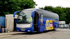 NX61AAA - Megabus (South Gloucester Bus & Coach) Barnstaple May 2017 (Dave Growns) Tags: nx61aaa sgbc exnationalexpresslivery southgloucesterbuscoach southgloucestershirebuscoach megabus barnstaple levante caetanolevante northdevon barnstaplebusdepot stagecoachbarnstaplebusdepot uk bus buses coach coaches publictransport m36 volvo volvob9r