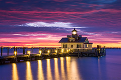 North Carolina Outer Banks Lighthouse Sunrise Manteo NC (Dave Allen Photography) Tags: lighthouse outerbanks northcarolina nc manteo roanoke roanokemarshes sunrise obx lighthouses bay harbor albemarle coast coastal seascape landscape eastcoast scenic scenery bluehour