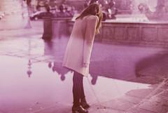 L'Oeil de Paris. (Violette Nell) Tags: violettenell cityscape france places mood atmosphère travel reflet surimpression doubleexposition doubleexposure purple girl vintage youth analog portrait portraitargentique argentique 35mmcolorfilm filmphotography urban city retro violet urbanpoetry aesthetic escape feelings soul fineart model streetphoto