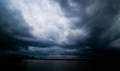 Act of God 4/5 (Turquoise Potion) Tags: storm nature lake india asia kerala backwaters outside blue dramatic clouds water stunning nikon composition