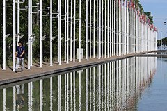 Reflection in Parque das Nacoes (alison's daily photo) Tags: reflection flags parquedasnacoes portugal lisbon 100xthe2017edition 100x2017 image36100