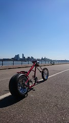 Hannan Custom LS300 chopper bike view across to Liverpool (The bike guy !) Tags: canada montreal idea ride liverpool mersey mersyside wirral kinlan eric design concept style cycle bicycle bike chopper ls300 custom customs hannan
