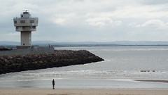 003a Seaforth Control Tower and Another Place (1) (Alan Maycock) Tags: liverpool bootle crosby seaforthcontainerterminal liverpooldeepwaterterminal liverpool2 waterloo crosbybeach anotherplace anthonygormley
