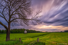 IJsselvliedt (© Jenco van Zalk) Tags: holland netherlands moving sky tree nature landscape longexposure clouds colors wezep fence rural natural country bigstopper leefilters jenco meadow land agricultural farming estate