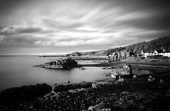 A Coastal Noir (stephen cosh) Tags: ayrshire blackandwhite dunure hasselbladx1d landscape longexposure mediumformat monochrome scotland seascape stephencosh xcd45mm