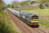 The Green One At Long Preston. (Neil Harvey 156) Tags: railway 66779 eveningstar backlane longpreston stonetrain arcowstone 6m37 class66 gbrf brunswickgreen