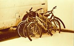John's bikes (inetjoker) Tags: nikon f2 photomic 50mm f14 neopan400 rodinalhc110mix rodin110 sepia