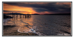 The End Is Near (D.K.o.w) Tags: holywood kinnegar jetty belfastlough tide wave silhouette seascape landscape northernireland belfast sunset orangesky sky clouds