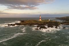 Buchan Ness Lighthouse (iancowe) Tags: buchan ness buchanness lighthouse nlb northernlighthouseboard stevenson boddam peterhead aberdeenshire scotland scottish waves windy drone drones dji phantom 4 pro aerial evening sunset