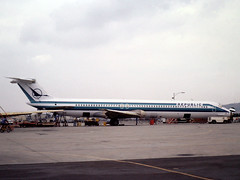 N304/8RC McDonnell Douglas MD-82 of Republic Airlines at Long Beach, CA in Oct 1981 (johnyates2011) Tags: n304rc n308rc md82 mcdonnelldouglas republicairlines mcdonnelldouglasmd82