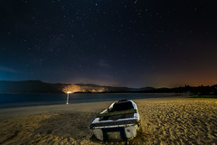 Houhai Bay (Bun Lee) Tags: landscape astrophotography beach boat bunlee bunleephotography china clouds nightskies nightscapes sanya starrynight stars water