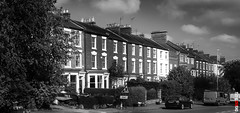 Kingsthorpe Road (BigRedTroll) Tags: british uk architecture blackandwhite building contrast contrasty england english home house letterbox monochrome northampton sky street structure terrace