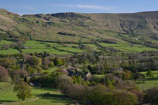 The Village of Edale, Peak District National Park, Derbyshire, England.