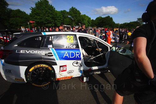 Josh Price on the BTCC grid at Oulton Park, May 2017