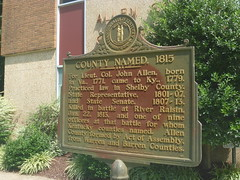 Historical Marker, Allen County Courthouse, August 1,2016 (rustyrust1996) Tags: allencounty scottsville kentucky courthouse historicalmarker