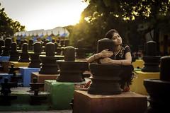 Devotee - Kolar, India (Kartik Kumar S) Tags: kotilingeshwara temple shiva linga kolar karnataka crore canon 600d 50mm sunset light golden model